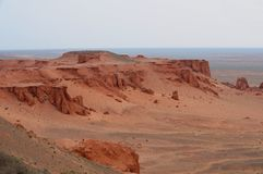 De Klippen van Mongolië en de vormingen van het Zand stock foto