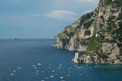 De Klippen van Positano Stock Afbeelding
