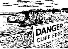 De klippenrand van het gevaar Stock Afbeeldingen