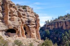 De klippenwoningen van Gila Stock Afbeeldingen