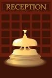 De klok bij het ontvangsthotel Royalty-vrije Stock Foto