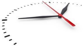 De klok en timestamp zonder aantallen Stock Foto