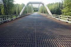 De klok-Irving Rivierbrug in Brits Colombia, Canada Stock Afbeeldingen