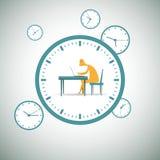 De klok rond het werken Stock Foto's