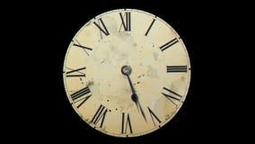 De klok schudt met snelheid Ruimte en tijd Relativiteitstheorie stock videobeelden