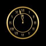 De klok toont bijna twaalf Royalty-vrije Stock Foto's