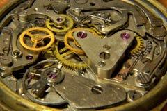 De klok toont de tijd van het toestelmechanisme royalty-vrije stock foto's