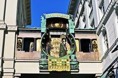De klok van Anker in Wien Stock Fotografie