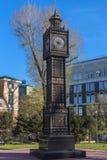 ` De klok van Big Ben ` in het Park van verjaardag 350 van Irkoetsk Royalty-vrije Stock Afbeeldingen