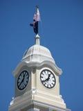 De klok van Cityhall stock foto's