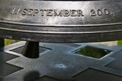 De klok van Conmemorative voor 9/11 Stock Fotografie