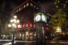 De Klok van de de Stadsstoom van Vancouver stock fotografie
