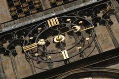 De Klok van de Kathedraal van Praag St. Vitus stock fotografie