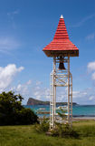De Klok van de kerk in GLB Malheureux, Mauritius Stock Afbeelding
