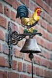 De klok van de kip en van de deur Stock Foto