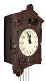 De klok van de muur met een koekoek Royalty-vrije Stock Fotografie