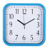 De klok van de muur op wit Tien afgelopen tien Stock Foto