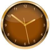 De klok van de muur. Vector. Royalty-vrije Stock Fotografie