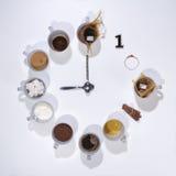 De klok van de ochtendkoffie Stock Fotografie