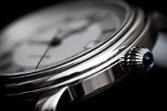 De klok van de pols Stock Foto's