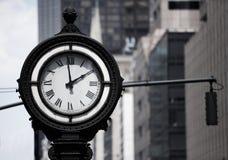 De klok van de straat stock foto