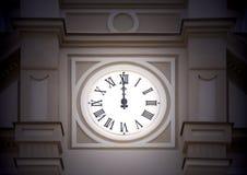 De klok van de toren Royalty-vrije Stock Foto's