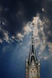 De Klok van de torenspits Royalty-vrije Stock Foto
