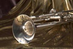 De klok van de trompet stock foto's
