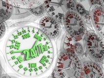 De klok van de week. De full-time dienst 24/7 Stock Fotografie