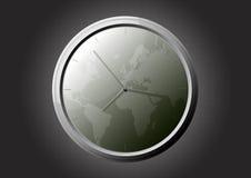 De klok van de wereld Stock Foto
