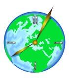 De klok van de wereld Stock Afbeeldingen