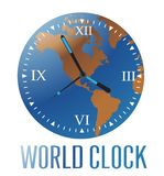 Wereldklok Stock Fotografie