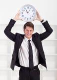 De klok van de zakenman Royalty-vrije Stock Foto's