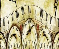 De Klok van Grunge Royalty-vrije Stock Fotografie