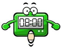 De klok van het beeldverhaal stock afbeelding