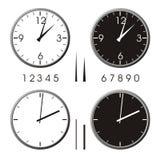 De klok van het bureau stock illustratie