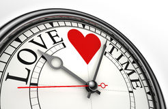 De klok van het de tijdconcept van de liefde Royalty-vrije Stock Foto's