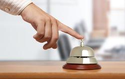 De klok van het hotel Stock Afbeelding