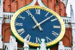 De klok van het Kremlin Stock Afbeeldingen