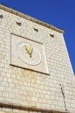 De klok van het KrkStadhuis, Kroatië Stock Fotografie