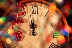 De Klok van het nieuwjaar royalty-vrije stock afbeeldingen