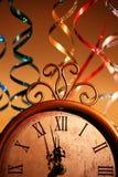 De Klok van het nieuwjaar Stock Foto's