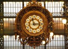De klok van het oude station Musee D ` Orsay, Parijs, Frankrijk royalty-vrije stock foto's