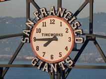 De Klok van het Scorebord van de Reuzen van San Francisco door TimeWorks royalty-vrije stock foto