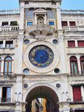 De Klok van het Teken van heilige, Venetië, Italië stock afbeeldingen