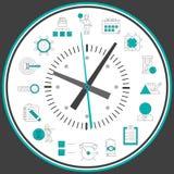 De klok van het tijdbeheer Stock Afbeelding