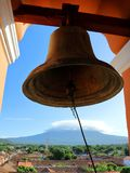 De Klok van Iglesia DE La Merced in Granada, Nicaragua stock fotografie