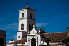 De klok van de de kerktoren van Santa Maria s stock foto
