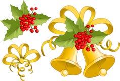 De Klok van Kerstmis Royalty-vrije Stock Foto's