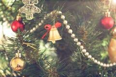 De klok van Kerstmis Stock Foto's